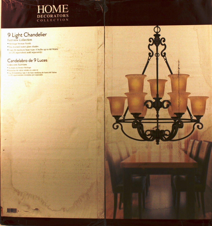 Home Decorators Collection Fairview 9-light 34 In. Heritage Bronze ...