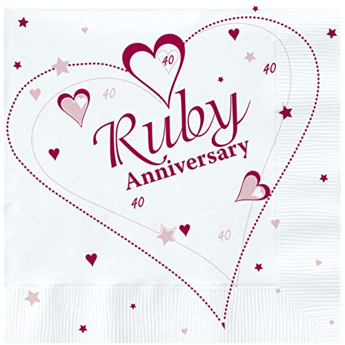 Wedding supplies amazon 18 x luxury ruby 40th wedding anniversary party napkins junglespirit Images