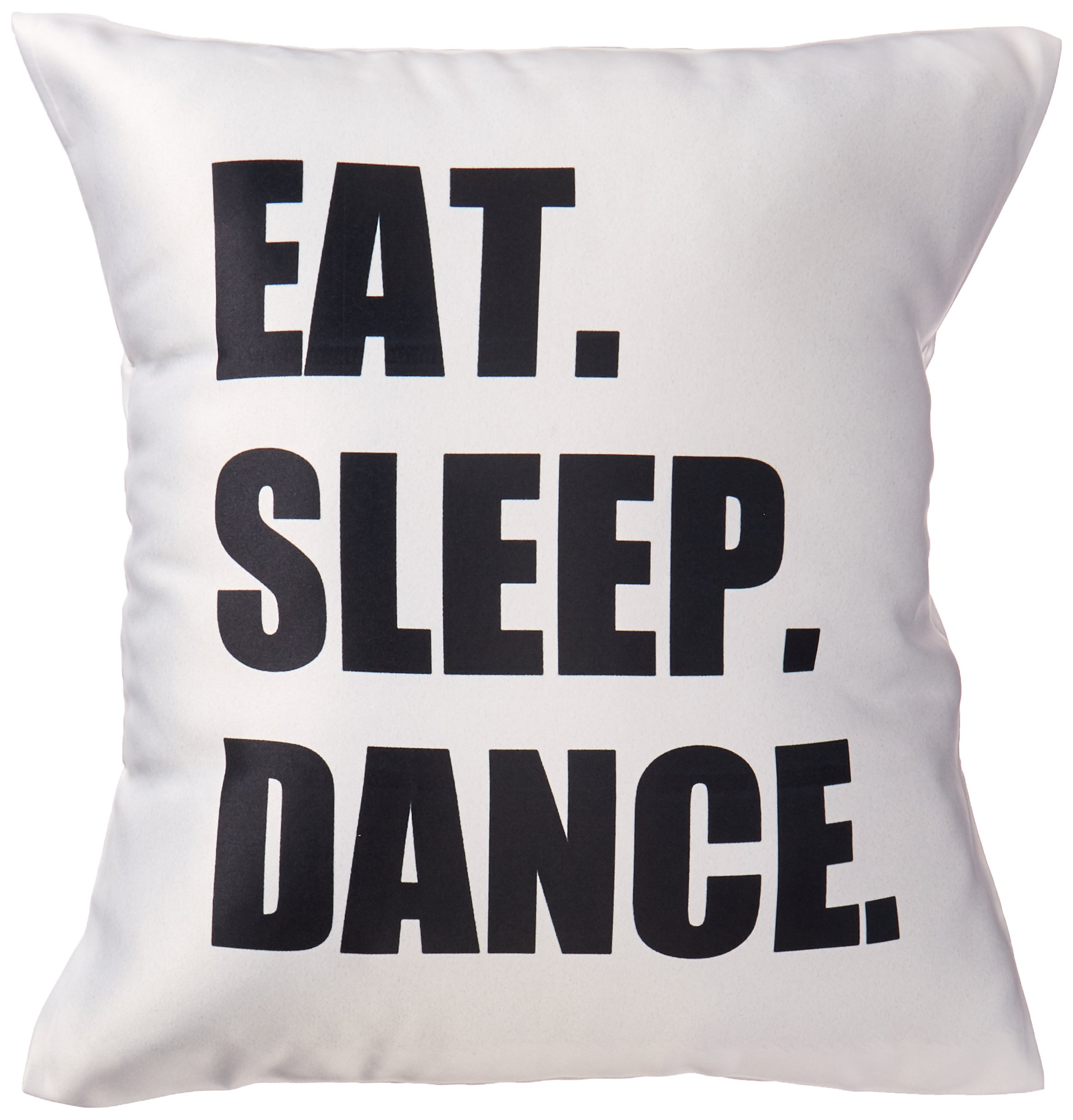 3dRose Eat Sleep Dance - passionate about dancing - fun text dancer gifts - Pillow Case, 16 by 16-inch (pc_180394_1)