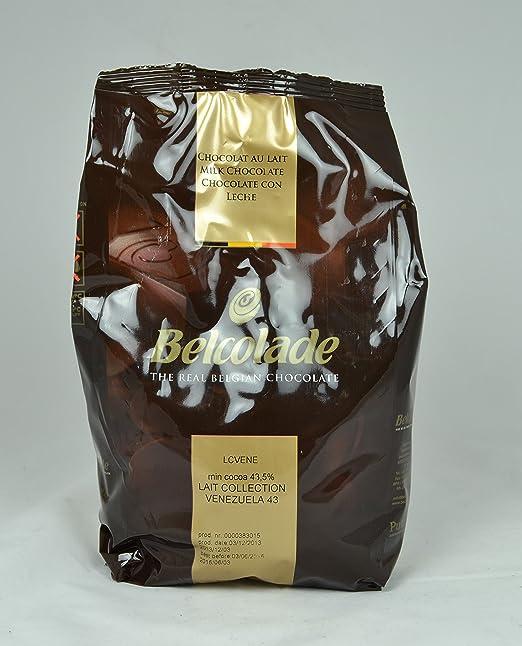 Belcolade 1 kg de leche 43,5 % de chocolate Venezuela