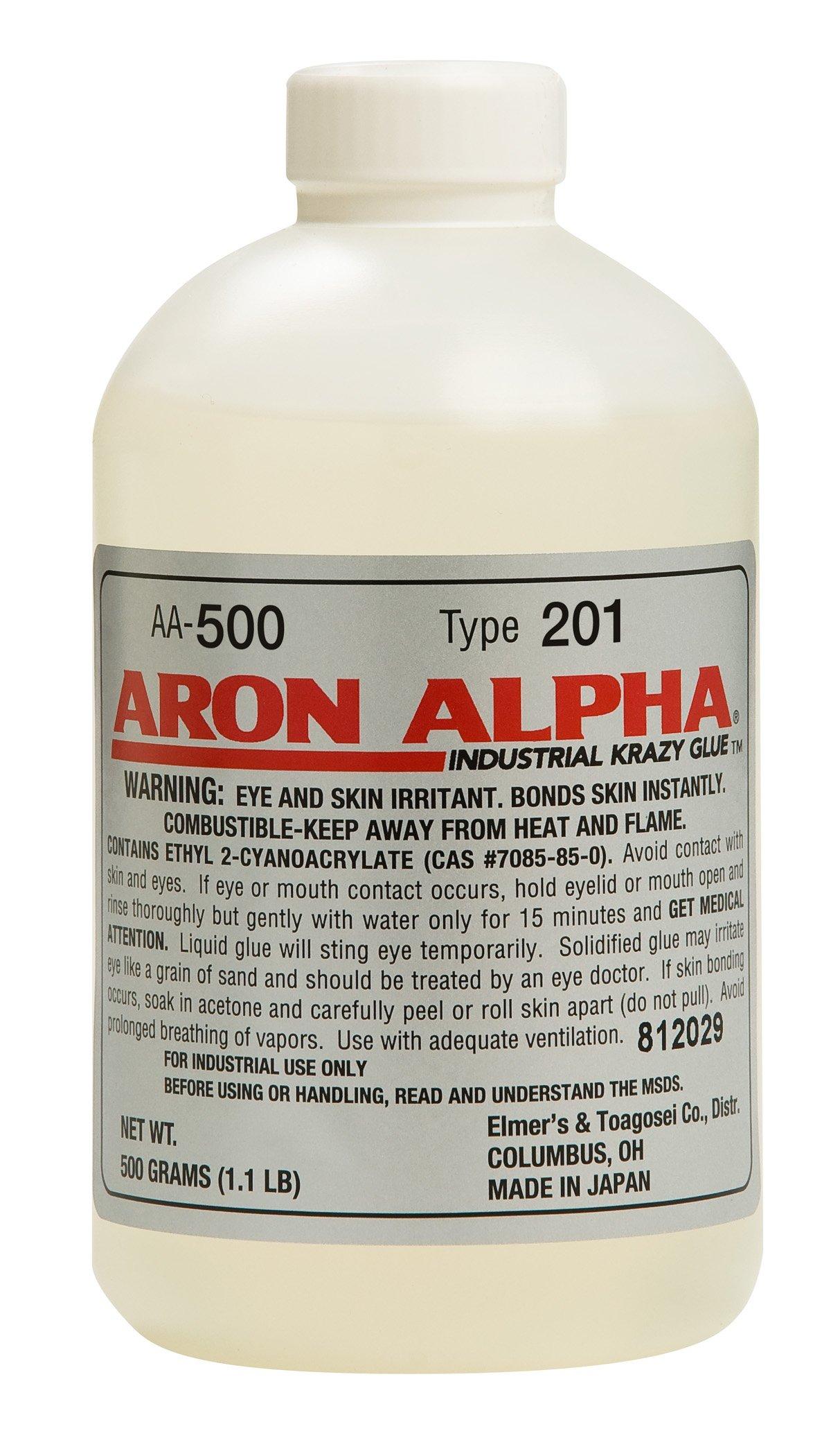 Aron Alpha Type 201 (2 cps viscosity) Regular Set Instant Adhesive 500 g (1.1 pound) Bottle