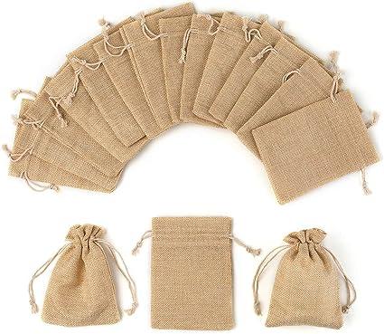 Amazon.com: YUXIER Bolsas de arpillera con cordón para ...