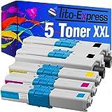 PlatinumSerie® Set 5 Toner XXL für Oki C310 Black Cyan Magenta Yellow MC351DN MC352DN MC361DN MC362DN MC561DN MC562DN kompatibel zu Oki 44469803 44469706 44469705 44469704