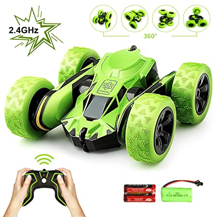 Buy Estela Store Estela Rc Car, Electric Stunt Car 4Wd Green off