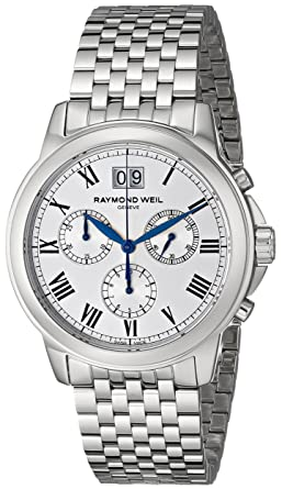 Amazon Com Raymond Weil Men S 4476 St 00650 Tradition Silver Tone