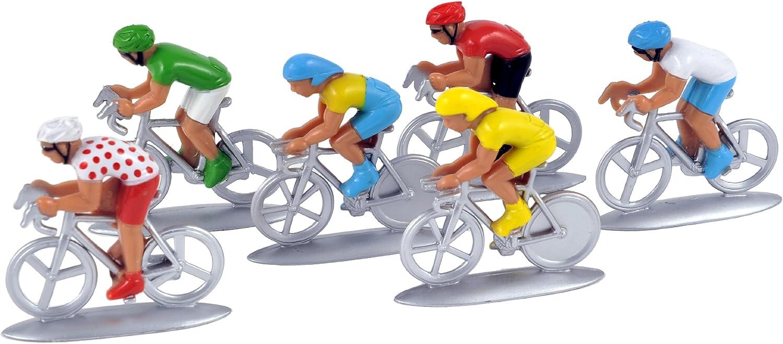 x6 1//32 neuf et emballé Cyclistes miniatures plastiques