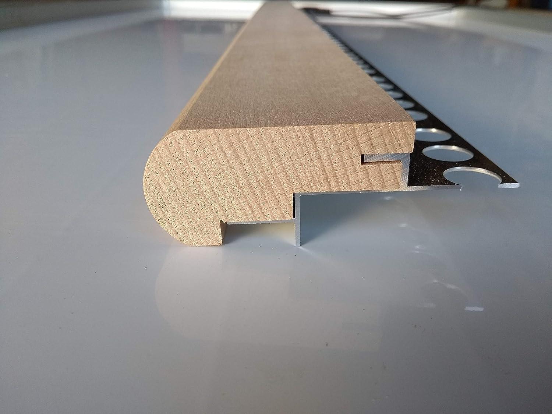 Mamperlán perfil madera Haya para peldaño y escalera C2 (1,00 MT): Amazon.es: Bricolaje y herramientas