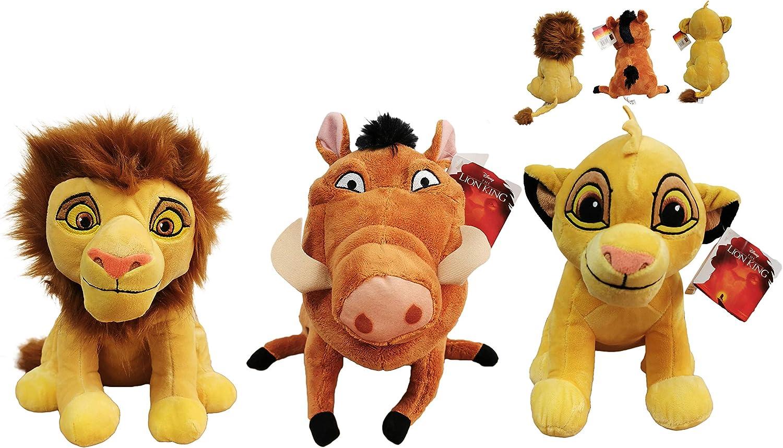 Dsney El Rey Leon (The Lion King) - Pack 3 Peluches Leon Simba ...