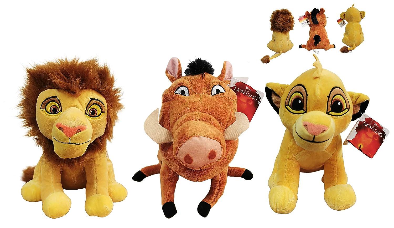 Dsney El Rey Leon (The Lion King) - Pack 3 Peluches Leon ...