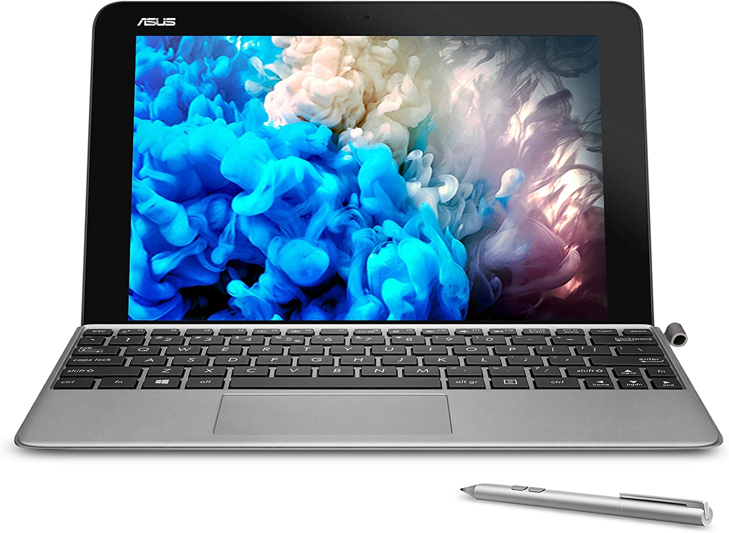 """ASUS 10.1"""" Transformer Mini T103HA-D4-GR, 2 in 1 Touchscreen Laptop, Intel Quad-Core, 128GB SSD, Grey, pen and keyboard included (Renewed)"""