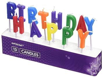Amscan - 9900744 feliz cumpleaños velas de Pick: Amazon.es ...