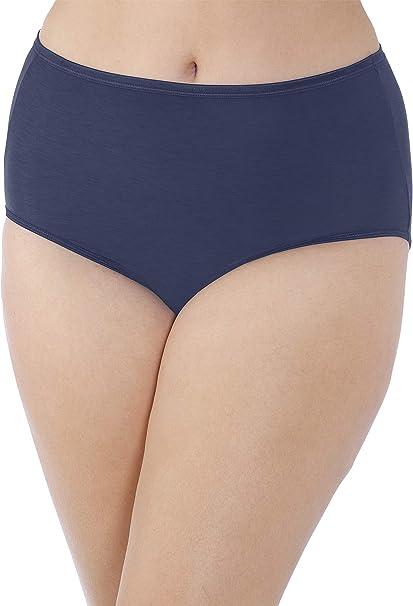 Vanity Fair Body Caress Silky Satin Briefs 13138 New Blue 3 Pairs Size 6 7 8 9