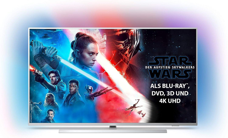 Philips Ambilight 55pus7304 12 Fernseher 139 Cm 55 Zoll Smart Tv 4k Led Tv Hdr 10 Android Tv Google Assistant Alexa Kompatibel Dolby Atmos Hellsilber Modelljahr 2019 Heimkino Tv Video