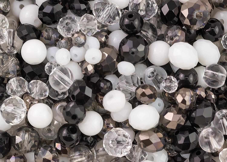 100 Perlen Mix ivory /& klar zur Hochzeitsdeko