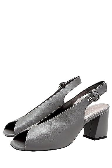 Next Sandalette mit Blockabsatz, grau, Grey