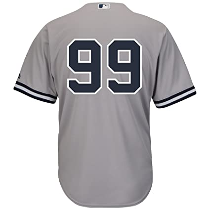 sports shoes d5a3a 8479c Aaron Judge New York Yankees Road Gray Cool Base Men's Jersey (Number Only)