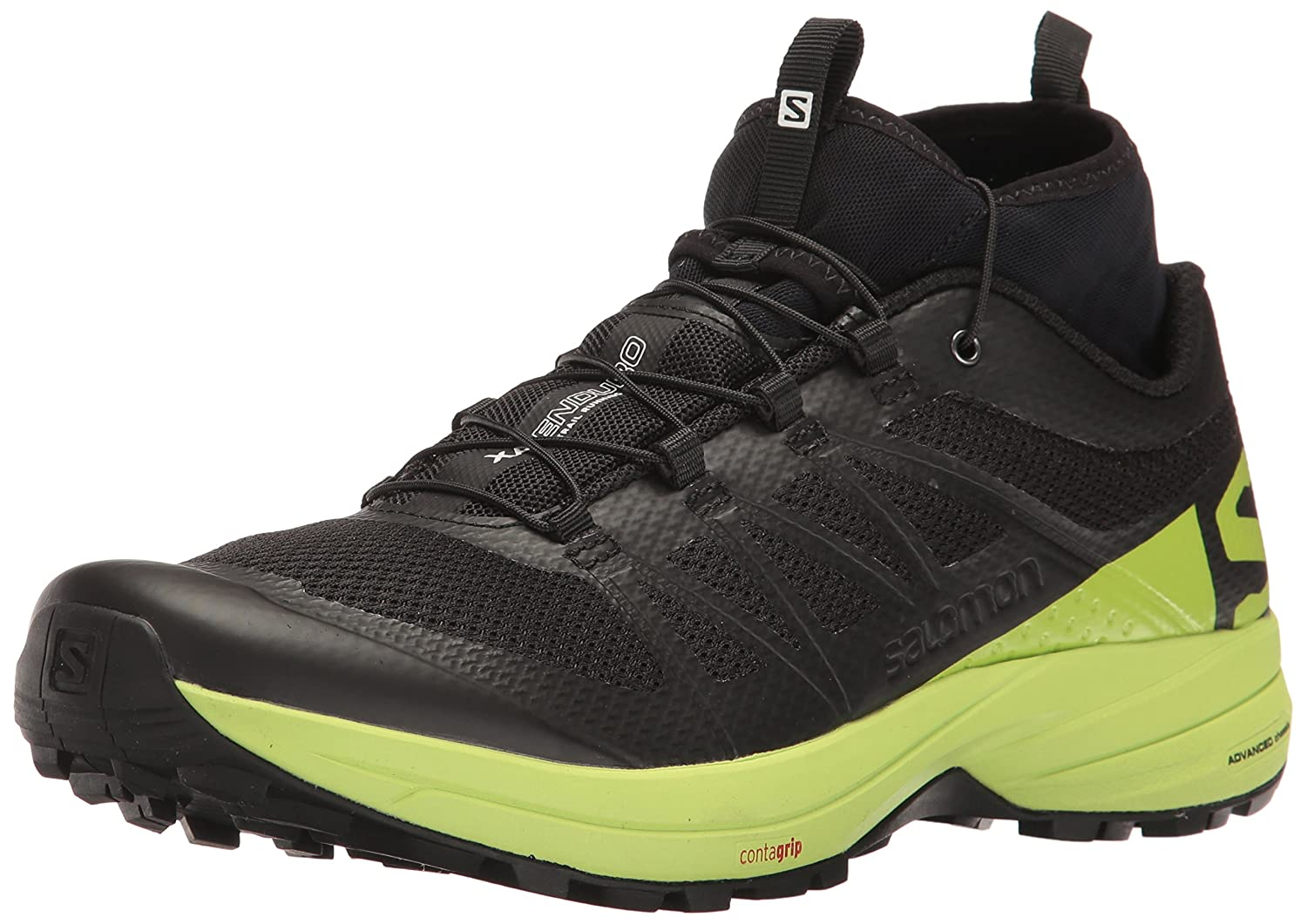 Salomon XA Enduro, Zapatillas de Trail Running para Hombre 41 1/3 EU|Negro (Black/Lime Green/Black)