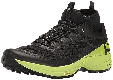 Salomon Men's XA Enduro Trail Runner, Black/Lime Green/Black, ...