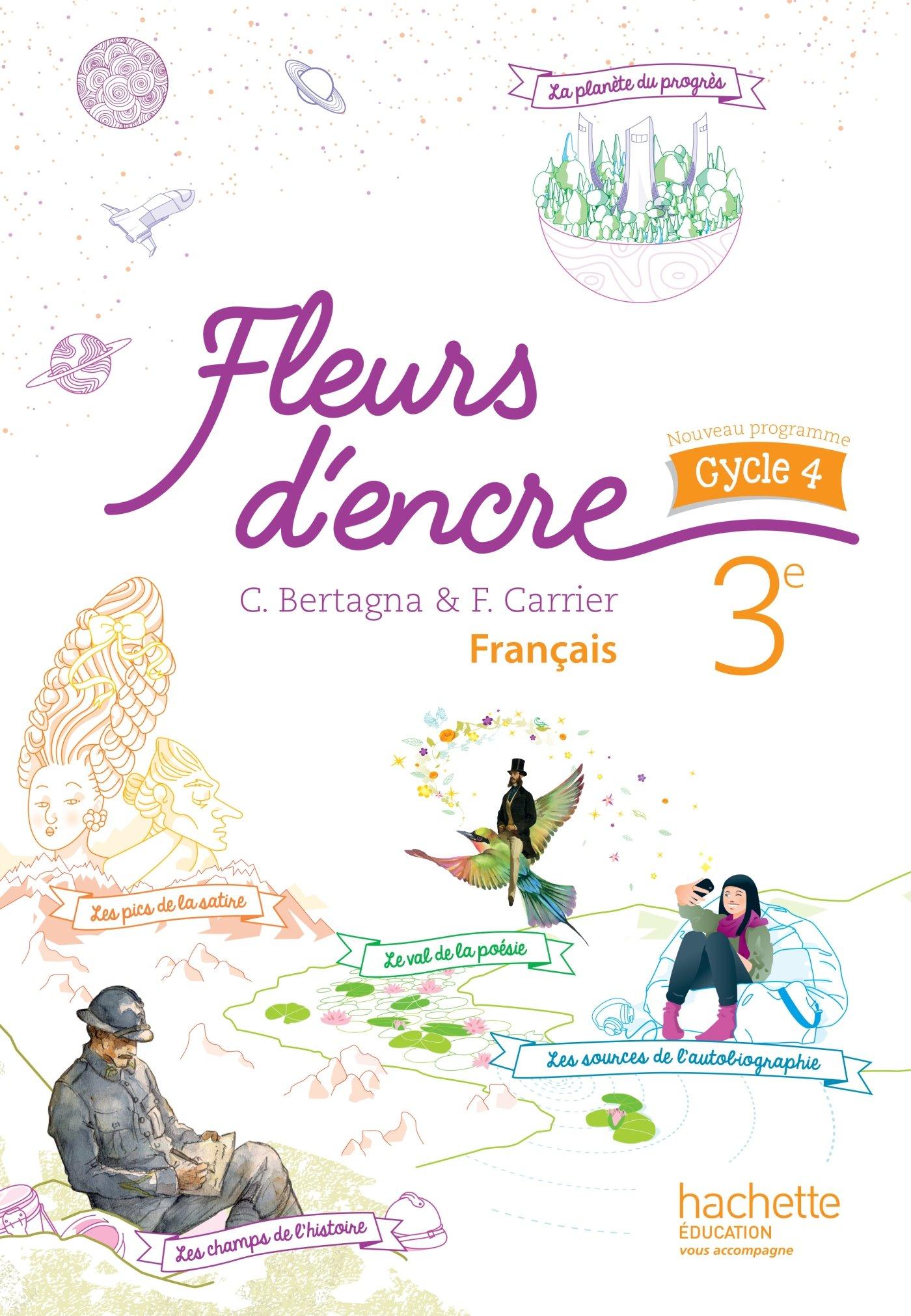 Feuilleter L Ouvrage Fleurs D Encre Francais Cycle 4 3e