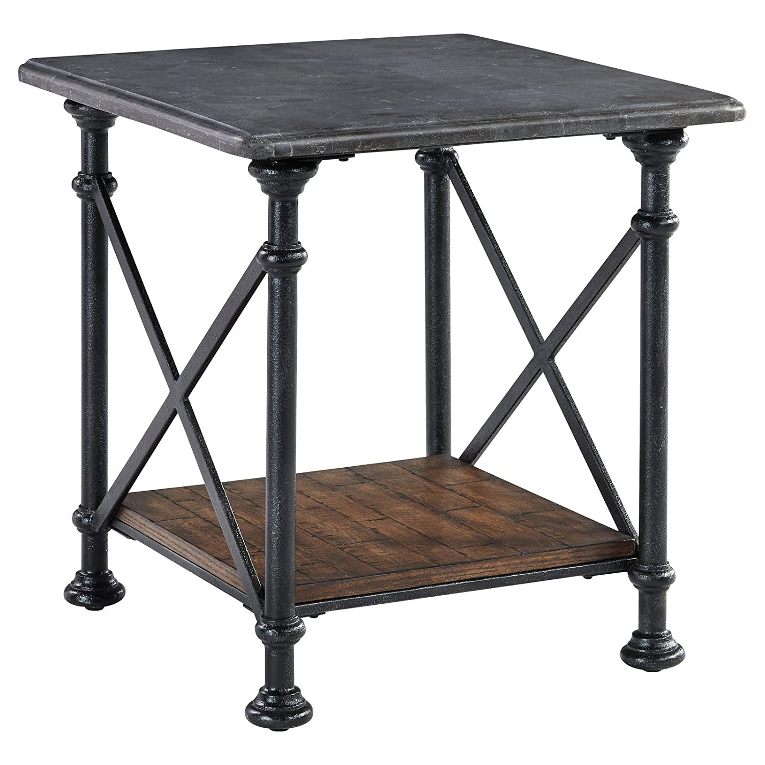 Beautiful Amazon.com: Signature Design By Ashley Tallenfield Gray/Brown Rectangular End  Table: Kitchen U0026 Dining