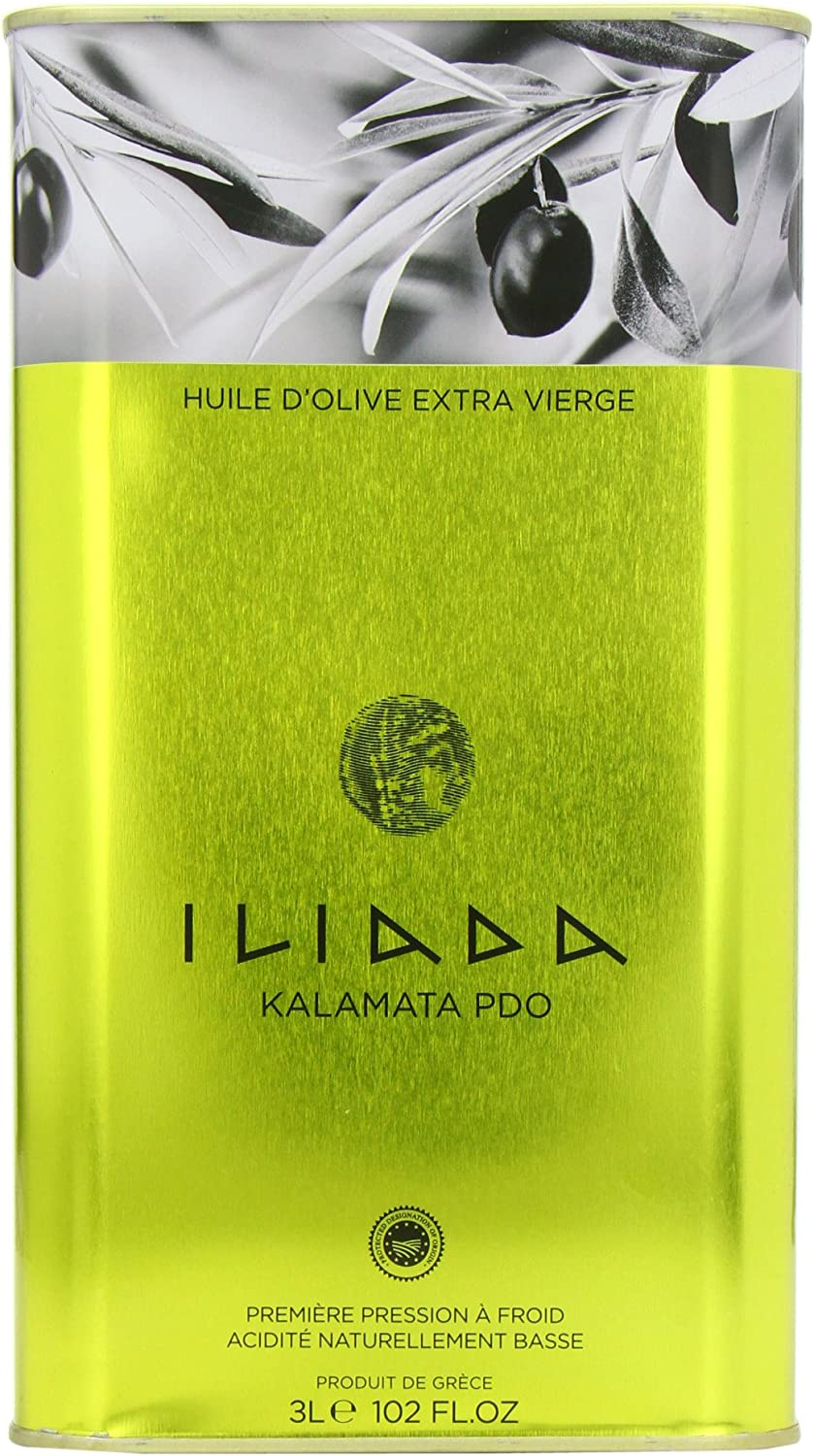 Iliada Extra virgin olive oil 3L Tin From Greece