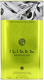 Iliada Extra Virgin Olive Oil Tin, 3 Liter