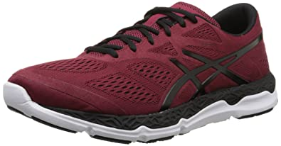 ASICS Men's 33 FA Running Shoe, Deep Ruby/Black/White, ...