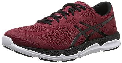 ASICS Men's 33 FA Running Shoe, Deep Ruby/Black/White, ...