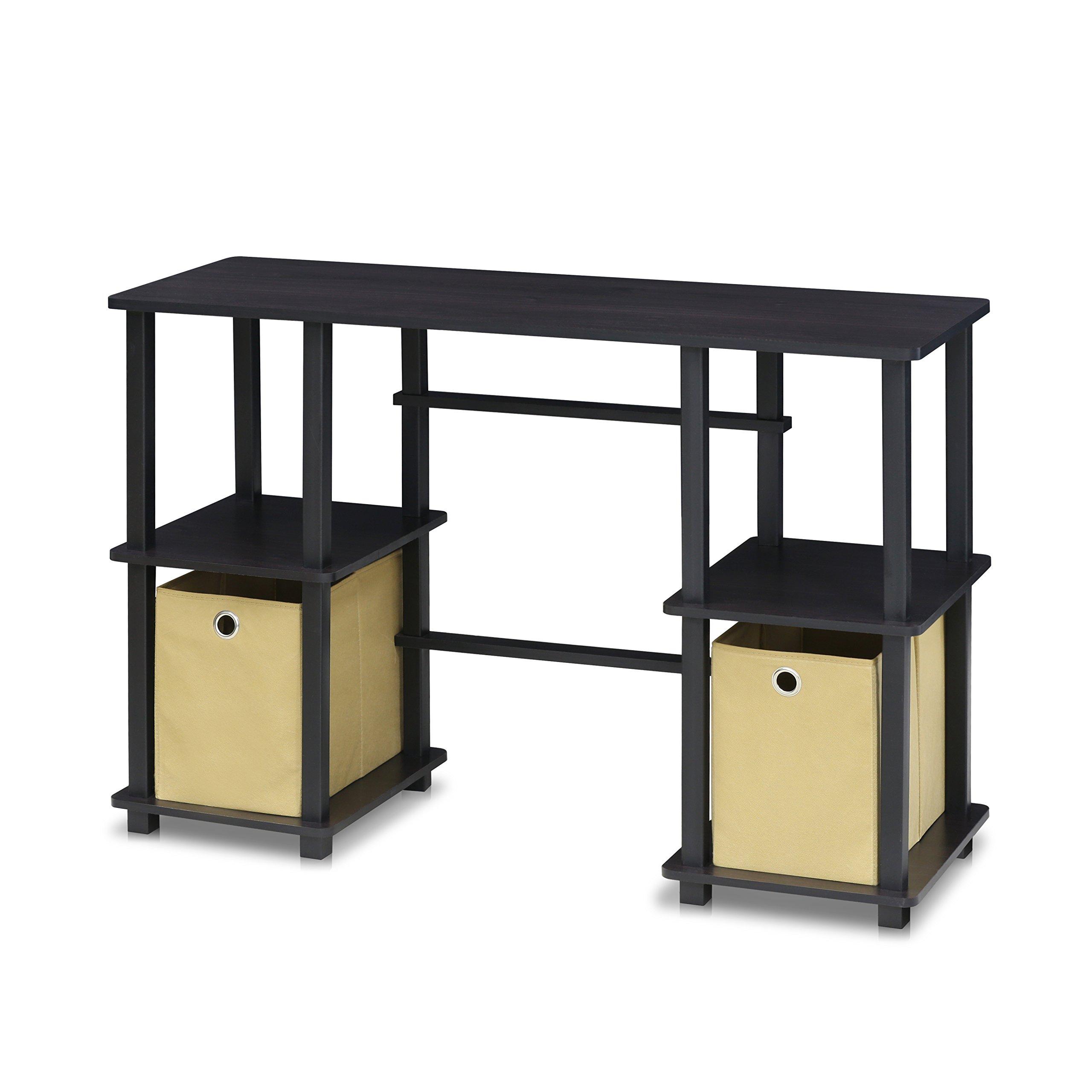 FURINNO 17072EX/BK Turn-N-Tube Computer Desk, Espresso
