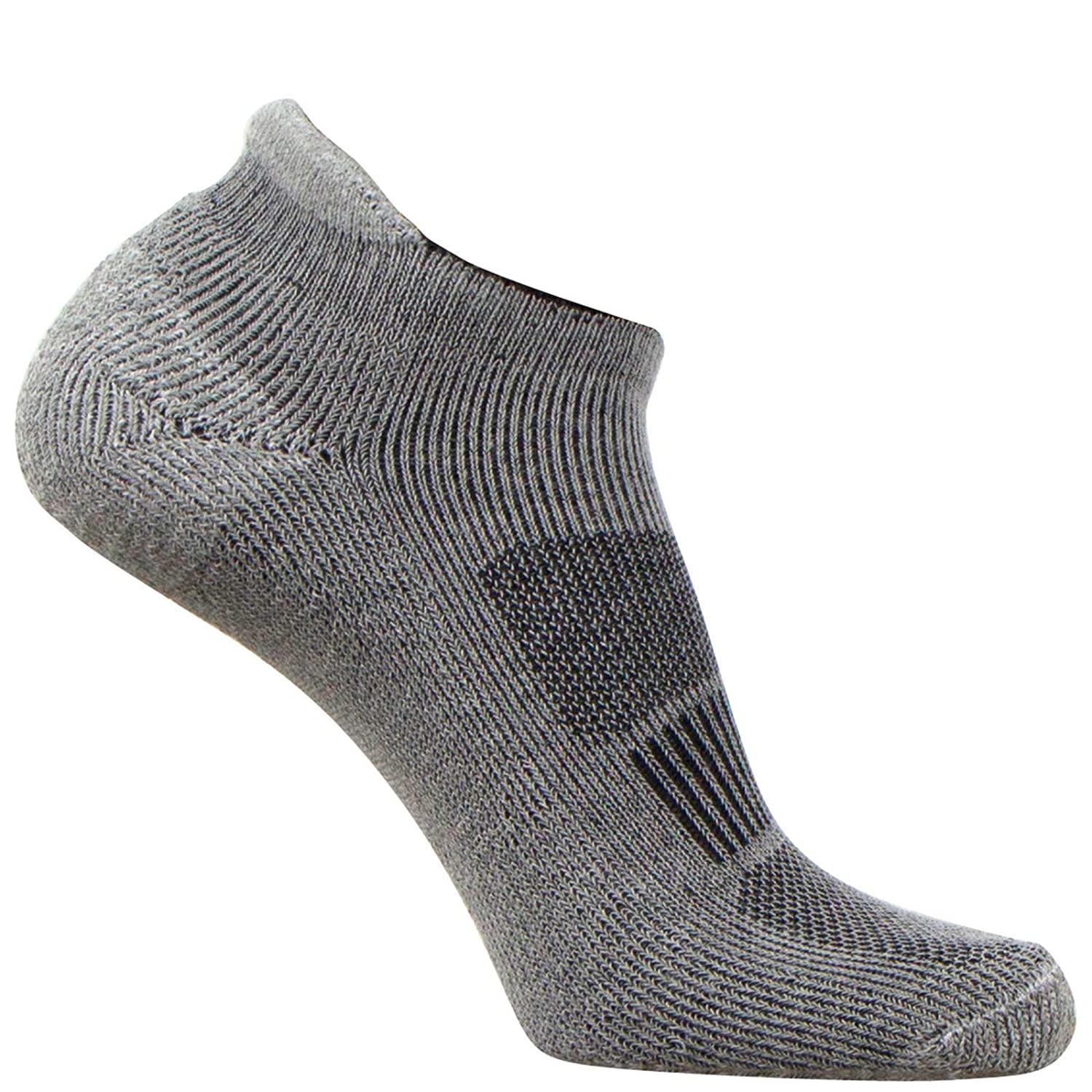 Pure Compression No Show Cushioned Running Socks With Coolmax Fabric Hidden Sport Socks