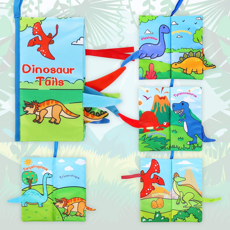 Suave Libro de Tela Beb/é No T/óxicos Libro Activity Beb/é Anti-Tear Aprendizaje y Educativo Libro para Beb/é Reci/én Nacido Ni/ños Libros Blandos para Beb/é