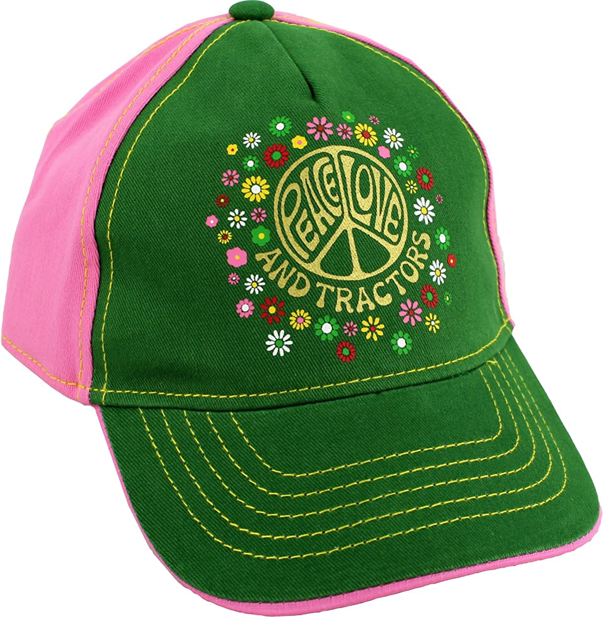 John Deere Kids Overalls And Pink Cap Children/'s Overall Gift Package