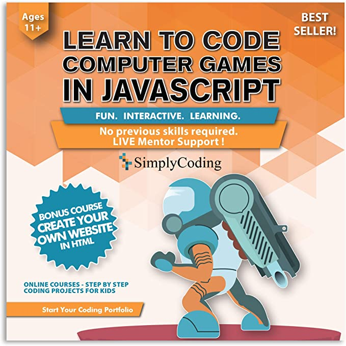 Amazon Com Coding For Kids Learn To Code Javascript Video Game Design Coding Software Computer Programming For Kids Ages 11 18 Pc Mac Chromebook Compatible