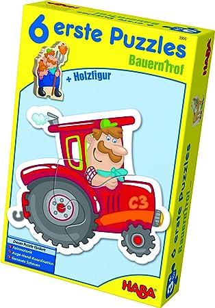 Holzpuzzle Erdbeermaus Niedliches Kinderpuzzle und Motorikspielzeug ab 3 Jahren Kleinkindspielzeug mit 4 h/übschen Puzzlemotiven