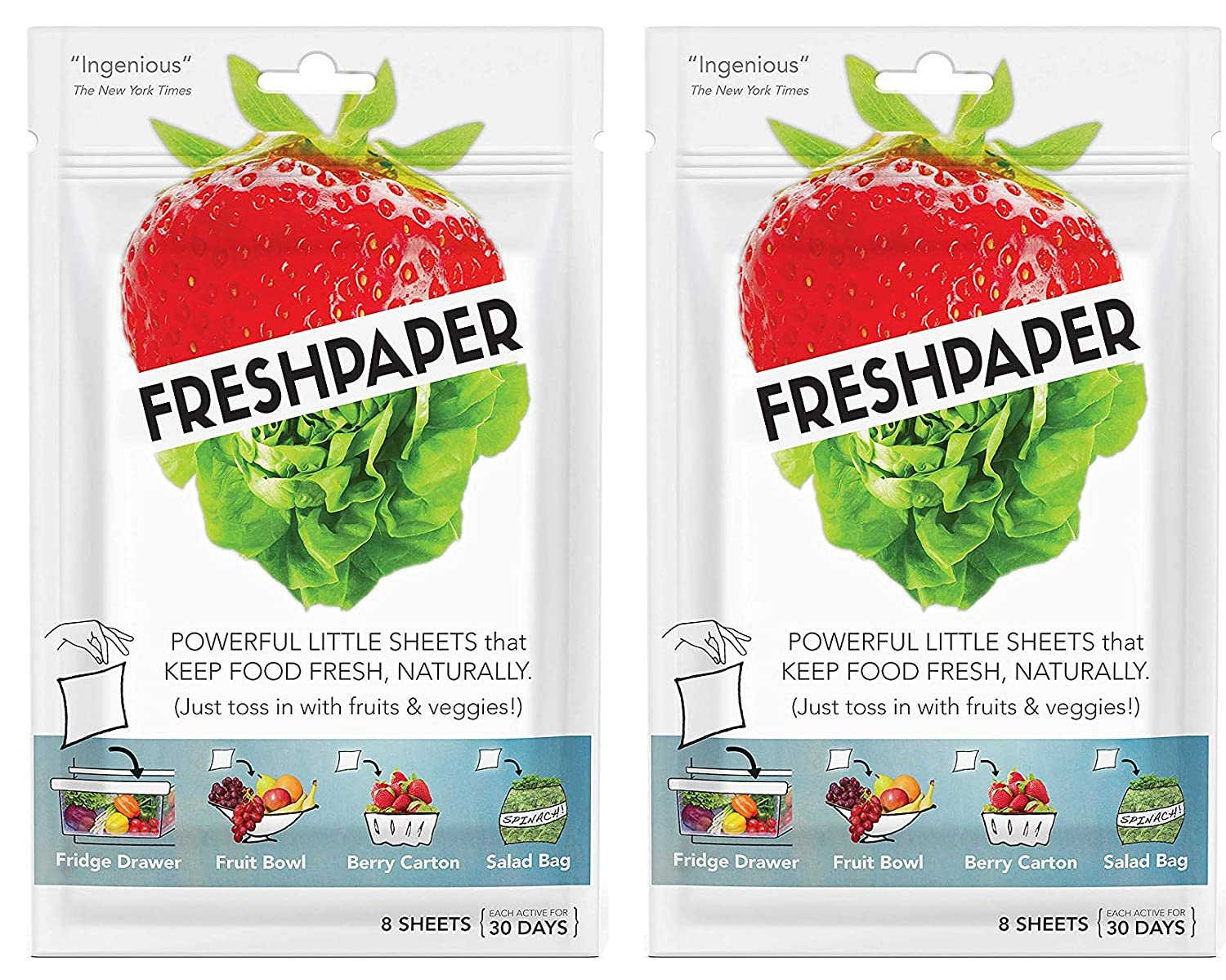Fenugreen FreshPaper Produce Saver Sheets, 2-Pack