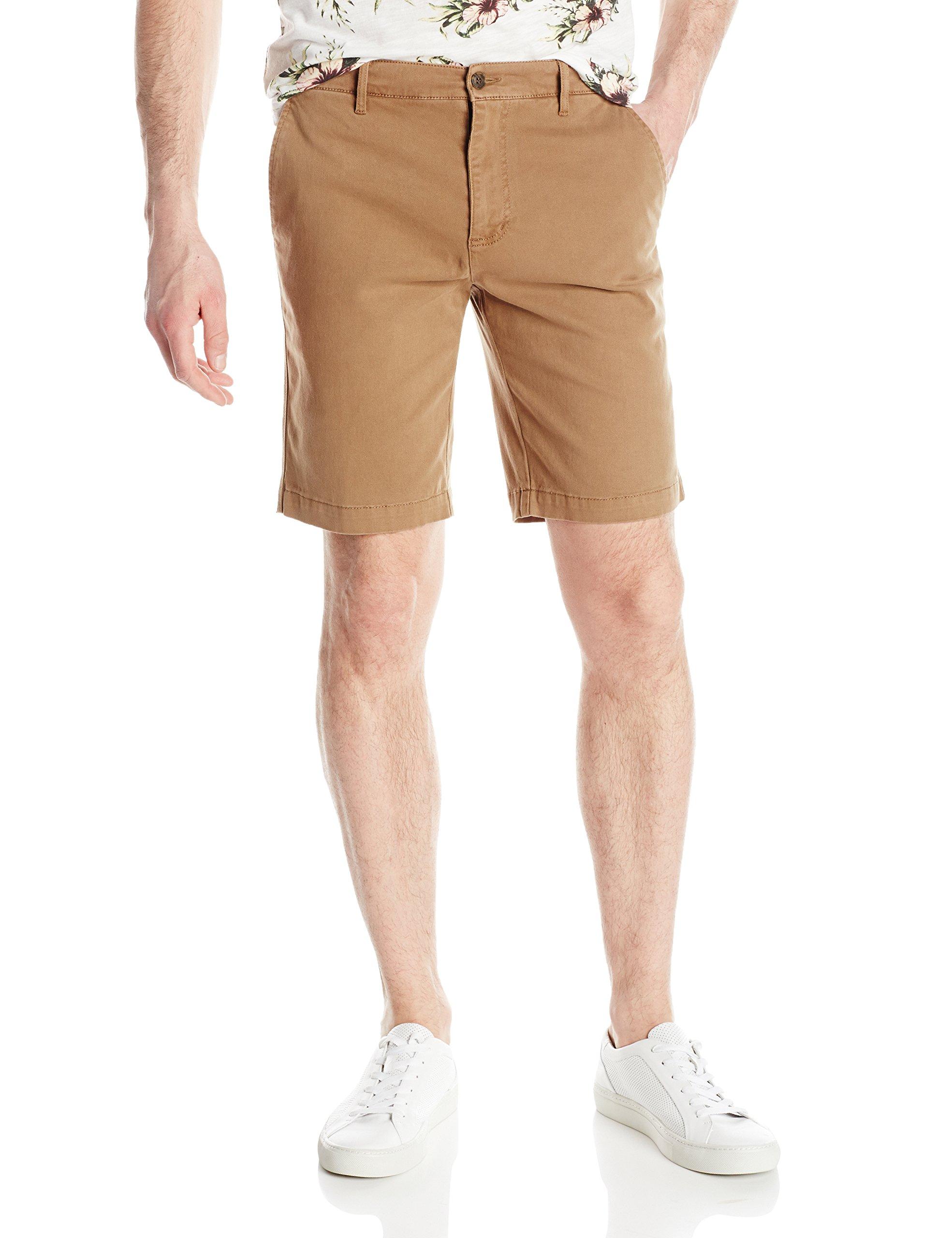Michael Stars Men's Vintage Twill Short, Khaki, 30