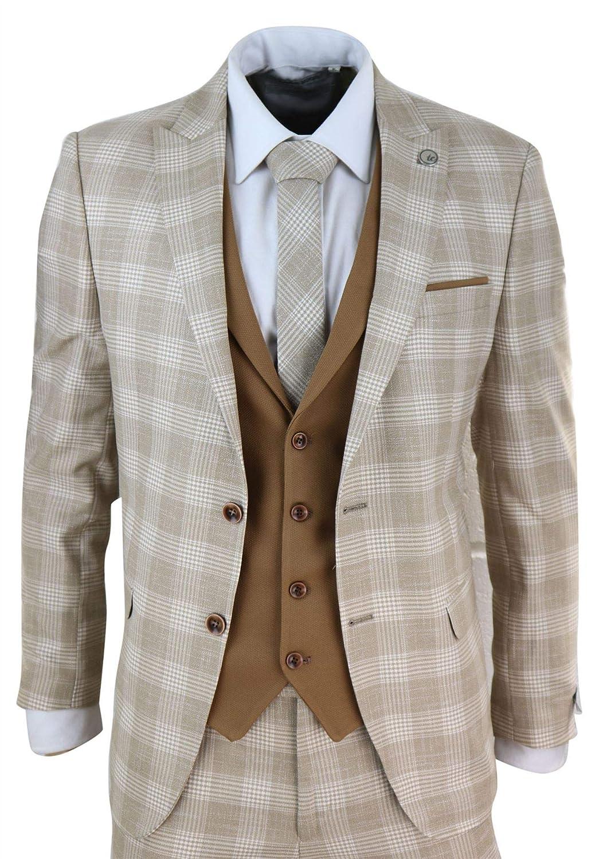 Traje Clasico Tweed Vintage de 3 Piezas para Hombre 1920 ...