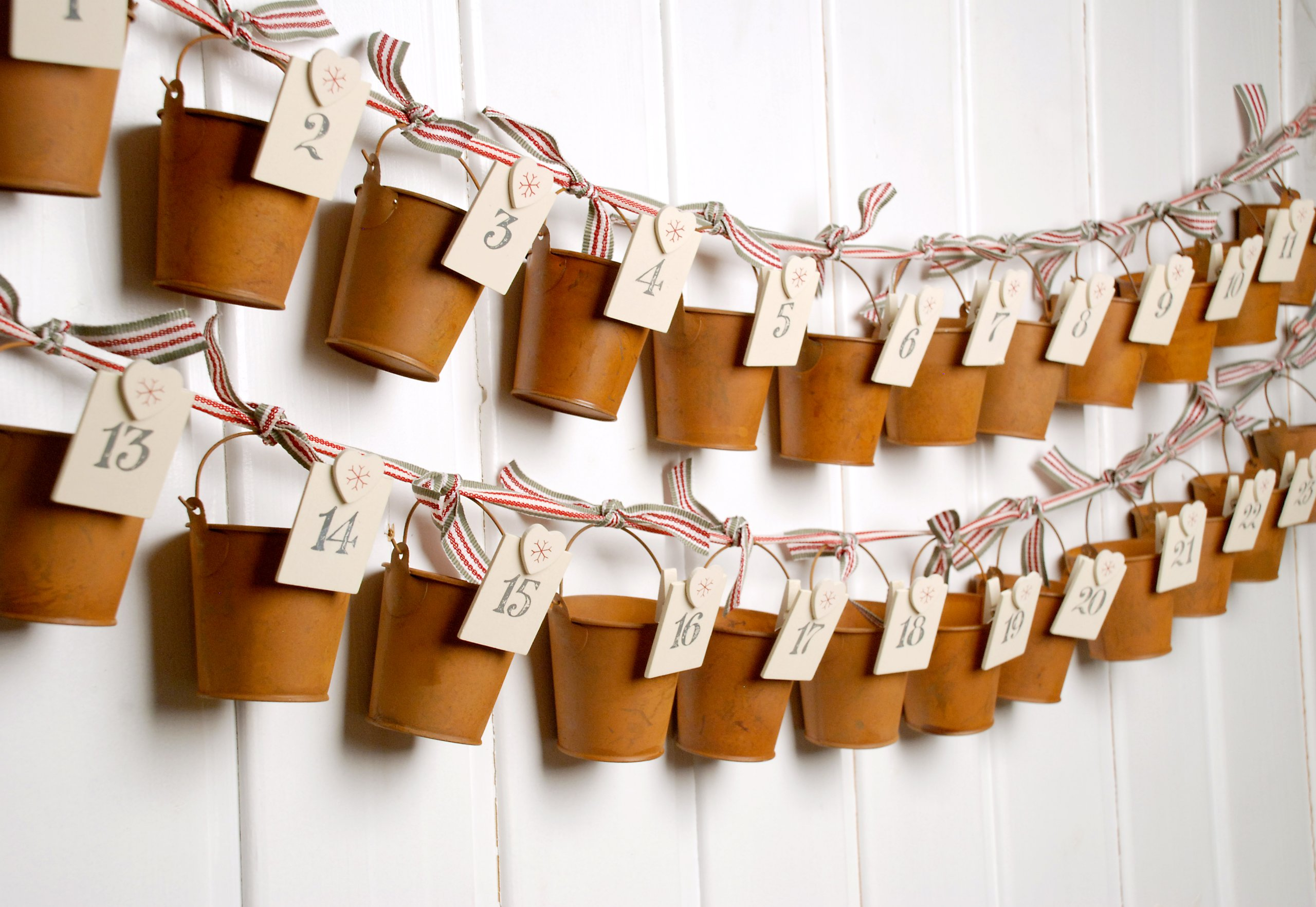 East of India Rusty Bucket Advent Calendar