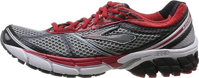 Brooks 1101691D035 - Zapatos para hombre, Gris / Rojo / Negro, 41: Amazon.es: Zapatos y complementos