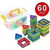 Kingstar マグネットブロック 【60ピース】 収納ケース付き 正方形*30pcs 三角形*30pcs