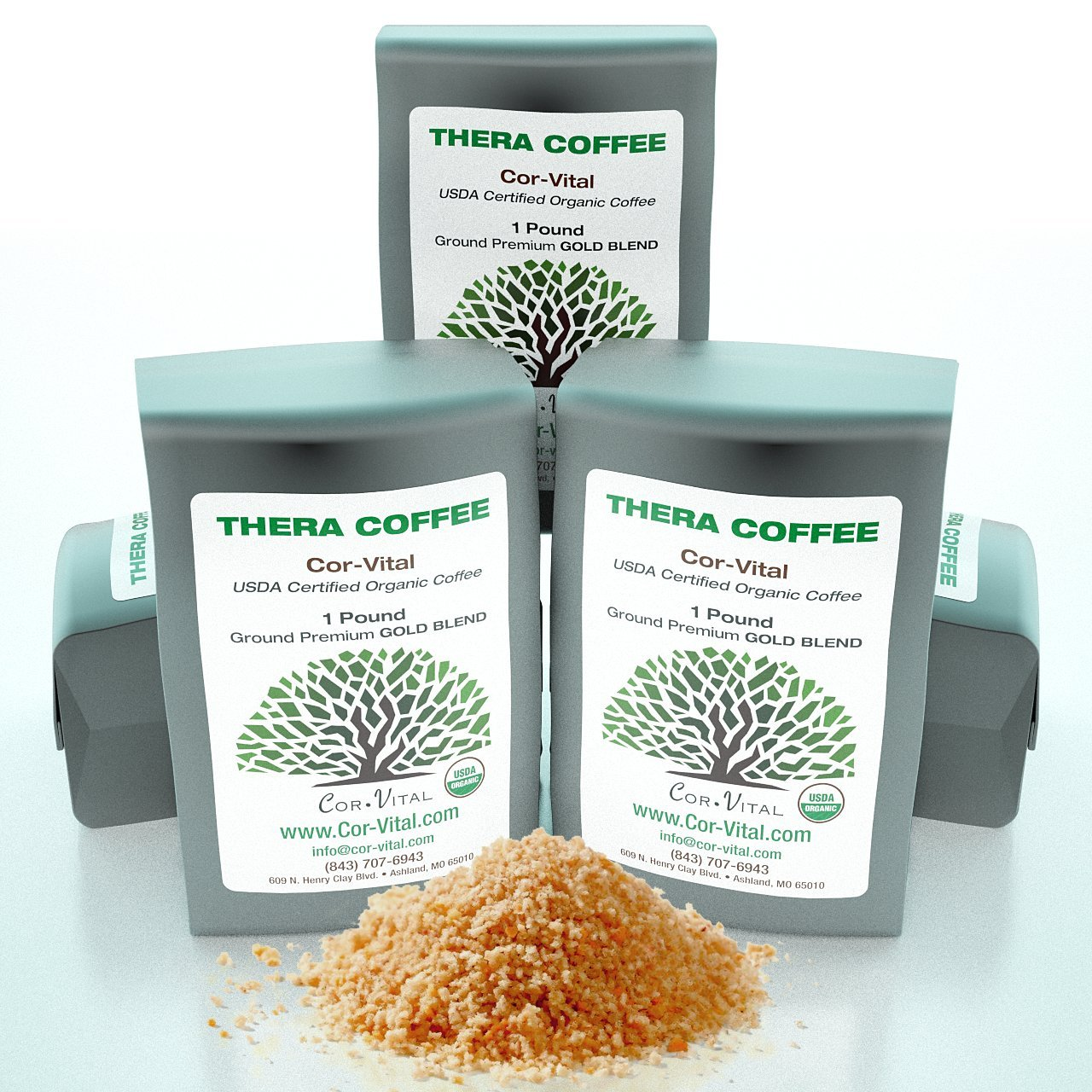 ''The Real Deal'' Enema Coffee Best Coffee for Enema - 5lb Bag - 100% Organic Green Beans Ground - *Free* Detox Recipe - Gerson Approved - Compare Our Enema Gold to Regular Roast by Cor-Vital
