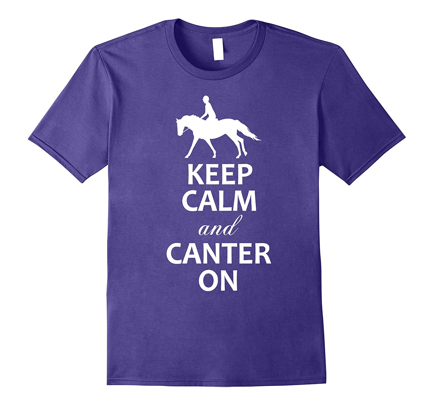 Keep Calm and Canter On shirt - Gifts for Horse Lovers-Vaci