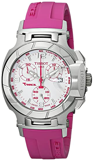 Tissot T048.217.17.017.01 - Reloj de pulsera mujer Mujer, Caucho, color Rosa: Tissot: Amazon.es: Relojes