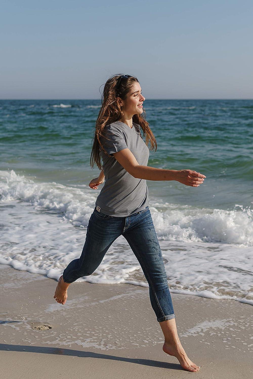 100/% NZ Organic Merino Wool Lightweight Womens Base Layer Thermal T-Shirt Short Sleeve V-Neck Tee