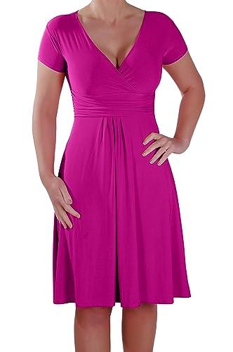 EyeCatch - Rosa Grecian Style Wrap Dress