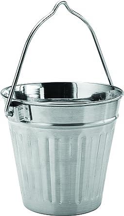 Utopía acero inoxidable presentación sartenes, cubos y cazuelas, f91135, acero inoxidable Mini papelera
