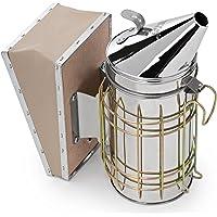 Honey Keeper Stainless Steel Bee Hive Smoker with Heat Shield Beekeeping Equipment
