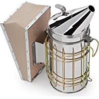 Honey Keeper Bee Hive Smoker Stainless Steel with Heat Shield Beekeeping Equipment