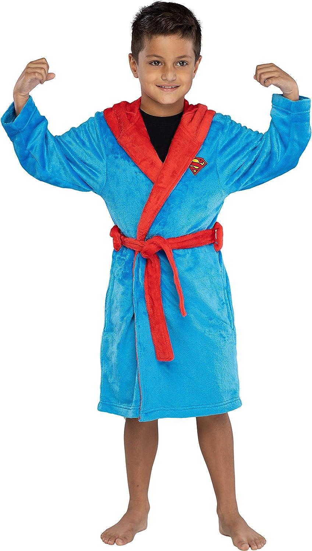 INTIMO DC Comics Kids Superhero Plush Fleece Hooded Costume Robe