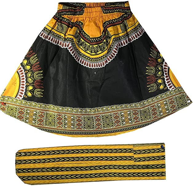 Amazon.com: Decoraapparel - Falda de cera africana para ...